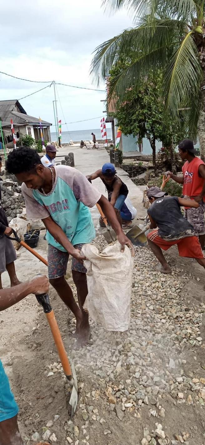 Penggunaan Dana Desa Ohoi Laar Tahun 2019 Berjalan Aman dan Lancar